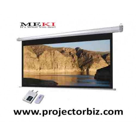"Electric projector Screen 92""D 16:9 HDTV Format"