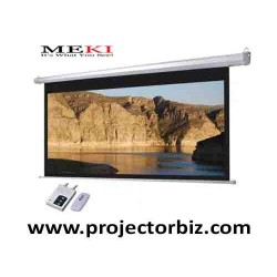 "MEKI Electric Projector Screen 106""D 16:9 HDTV Format-PROJECTOR MALAYSIA"