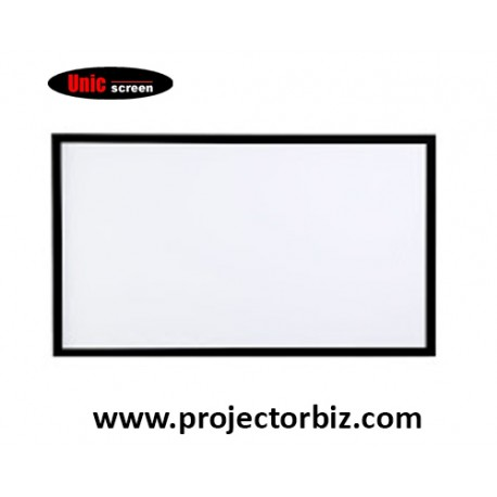 """Unic Fixed Frame Screen Projector Screen 106""""D"""