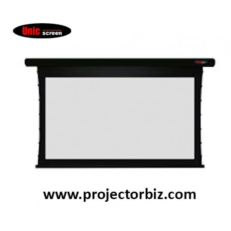 Unic Tab Tension Electric Projector Screen 6' x 8' 4:3 NTSC Format