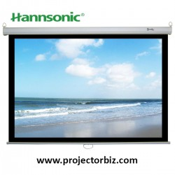 "Hannsonic Manual Projection Screen 60""x60"" (5'x5')"