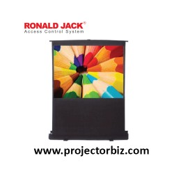 Ronald jack Portable Floor Pull Up Projection Screen 80""